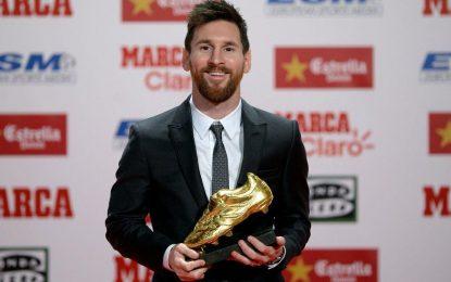 مسی پنجمین کفش طلای اروپاییاش را به دست آورد