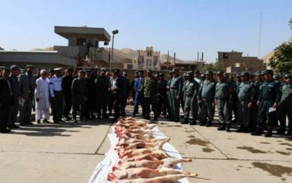 سربازان پولیس در بادغیس، ۱۰ سال گوشت گندیده خورده اند