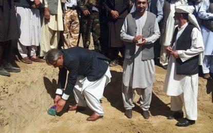 سنگ تهداب پنج پروژه آب آشامیدنی صحی در بادغیس گذاشته شد