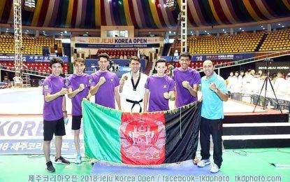 دو مدال طلا و دو مدال برنز برای افغانستان در مسابقات اوپن کروه جنوبی