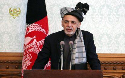دعوت رییس جمهور از طالبان برای پذیرش صلح و شرکت در انتخابات