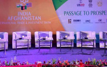 عبدالله عبدالله برای شرکت در یک همایش تجارتی به هند رفت