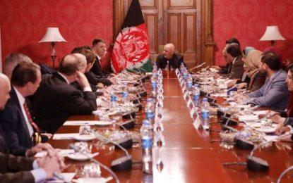 رئیس جمهور غنی با هیات مجلس نمایندگا امریکا دیدار کرد