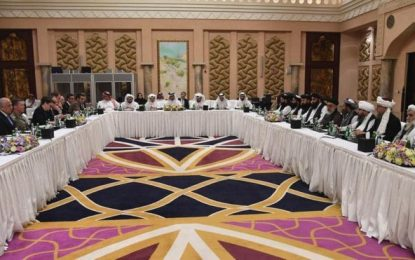 مذاکرات نمایندگان امریکا و طالبان در قطر متوقف شده است