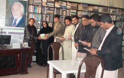 ۴۰ جلد کتاب از سوی دانشگاه کابل به کتابخانه عامه نیمروز اهدا شد