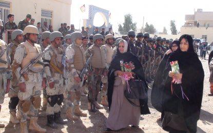 باشندگان نیمروز حمایت همه جانبهشان را از نیروهای امنیتی و دفاعی اعلام کردند
