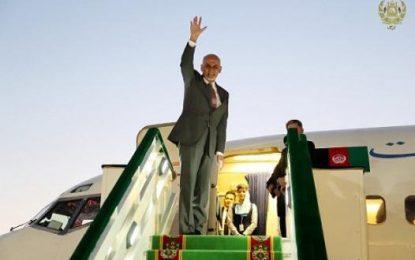 رئیس جمهور غنی به امارات متحده عربی رفت