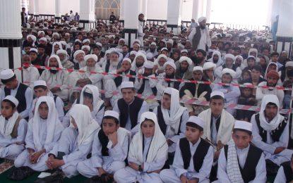 بیش از ۱۰۰ تن از حافظان قرآن در شهر نیمروز سند فراغت گرفتند