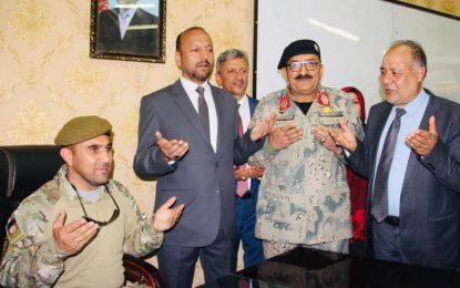 اجمل فایز به جای عبدالرقیب مبارز فرمانده پولیس بلخ مقرر شد