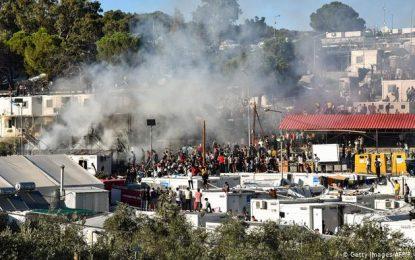 در اثر درگیری در یک کمپ مهاجران در یونان، دو نفر جان باختند