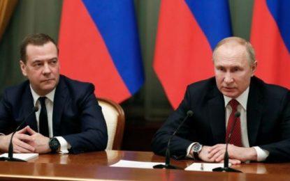 نخست وزیر روسیه استفعا داد