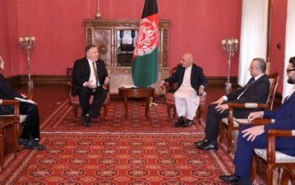 پمپئو با غنی و عبدالله در مورد صلح و وضعیت سیاسی جاری افغانستان گفتوگو کرد