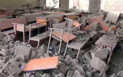 طالبان یک مکتب را در ولسوالی قادس بادغیس تخریب کردند
