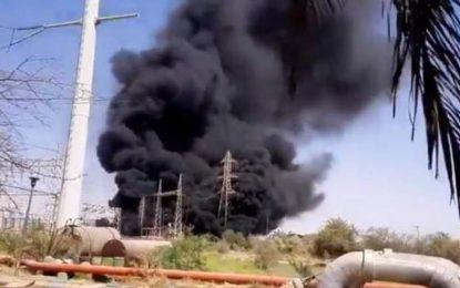 وقوع انفجار و آتشسوزی در یک نیروگاه برق ایران