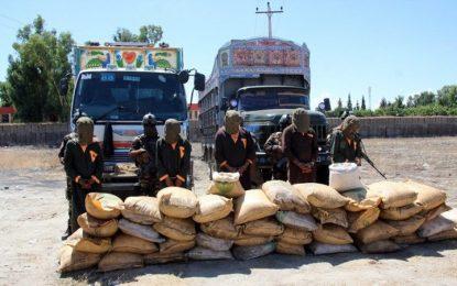 امنیت ملی بیش از دو تُن امونیم نایتریت را در ننگرهار ضبط کرد