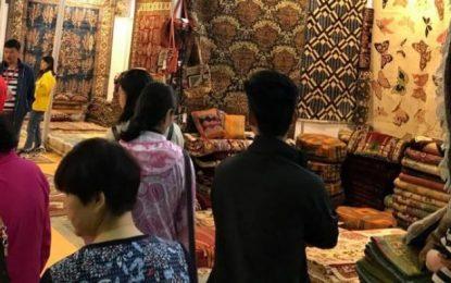 قالین کشور در نمایشگاه بین المللی چینقای چین به نمایش گذاشته شدهاست