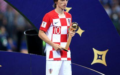 لوکا مدریچ از کرواسیا بهترین بازیکن جام جهانی فوتبال ۲۰۱۸