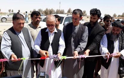 افتتاح ۳۸ پروژه میثاق ملی شهروندی در ولسوالی چهاربرجک نیمروز