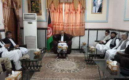 هیات بلندپایه دولتی از کابل به منظور بررسی خواستههای تحصن کنندگان وارد شهر زرنج نیمروز شد