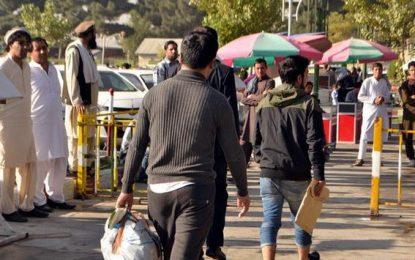 یک گروه ۵۰ نفری پناهجویان افغان امروز به کابل بازگشت داده شد