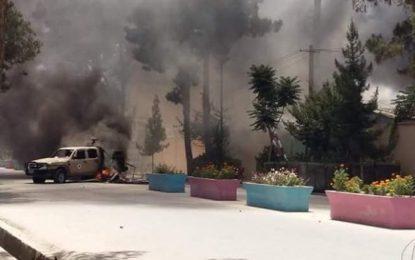 معترضان در فاریاب ساختمان ولایت را آتش زدند