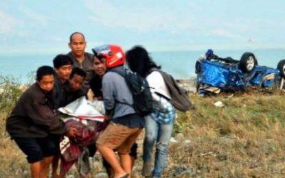 تلفات زمین لرزه و سونامی در اندونزیا به ۴۲۰ کشته افزایش یافت