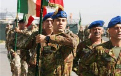 ایتالیا شمار سربازانش را در افغانستان کاهش میدهد