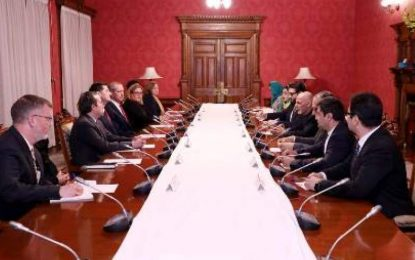 رئیس مجلس نمایندگان امریکا با رهبران حکومت وحدمت ملی دیدار کرد