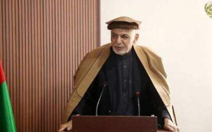 رئیس جمهور: برای تامین امنیت بامیان یک قطعه نظامی ایجاد میشود