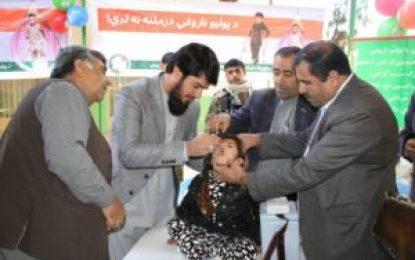 بیش از ۲۰۰ هزار طفل در فراه واکسین پولیو دریافت میکنند