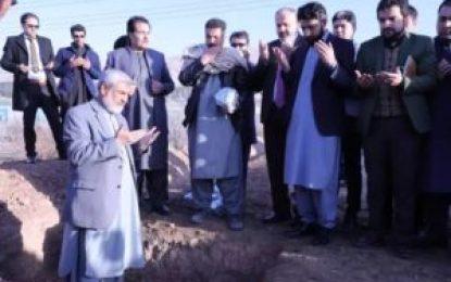 سنگ تهداب انستیتوت زعفران افغانستان در هرات گذاشته شد