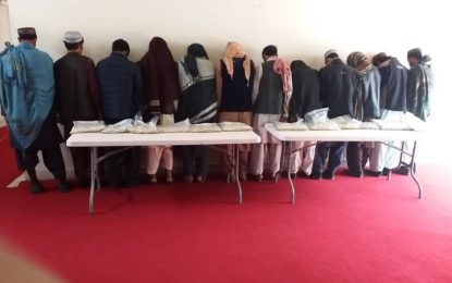 پولیس قندهار ۱۲ قاچاقبر مواد مخدر را از میدان هوایی این ولایت بازداشت کردهاست