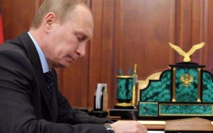 پوتین فرمان تعلیق عضویت در پیمان موشکهای میان برد را امضا کرد