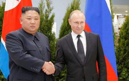 برای نخستین بار سران روسیه و کوریای شمالی با هم دیدار کردند