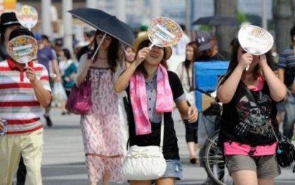 گرما در جاپان ۱۱ نفر را کشت و هزاران نفر را روانه شفاخانه کرد