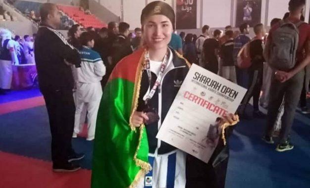 یک کاراتهکار افغان در رقابتهای گرندپرانس امارات به مدال برنز دست یافت