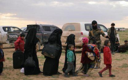 بیش از ۶۰۰ تن از اعضای خانواده داعشیان از سوریه به عراق منتقل شد