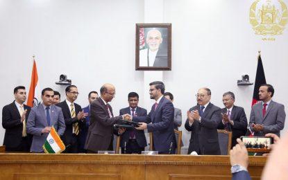 هند بیش از ۱۰۰ میلیون دالر به افغانستان کمک کرد