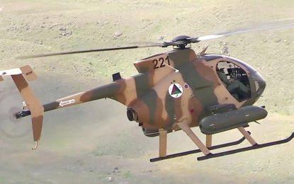 یک چرخبال قوای هوایی کشور در ولسوالی خاشرود نیمروز نشست اضطراری کرد