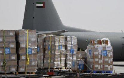 سازمان جهانی صحت از طریق امارات، ۷ تن تجهیزات صحی به ایران فرستاد