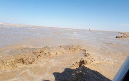 ۵۵ خانواده در ۵ قریه ولسوالی چخانسور نیمروز از سیلاب متضرر شده اند