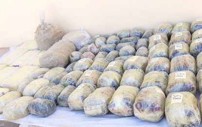 کشف و ضبط  بیش از ۱۰۰ کیلوگرام مواد مخدر در نیمروز