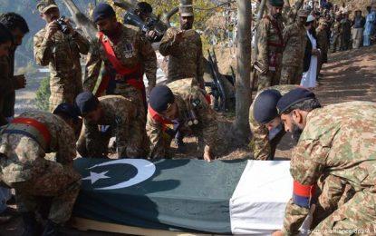 در نزدیکی مرز افغانستان ۷نظامی پاکستانی کشته و زخمی شده اند