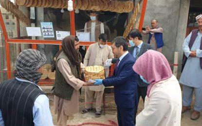 توزیع نان به نیازمندان در ولایت بامیان آغاز شد