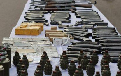 یک دیپوی سلاح طالبان توسط نیروهای ویژه امنیتی کشف گردیده است