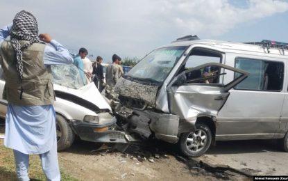 حادثه ترافیکی در شاهراه کابل پروان ۷ تن را زخمی کرد